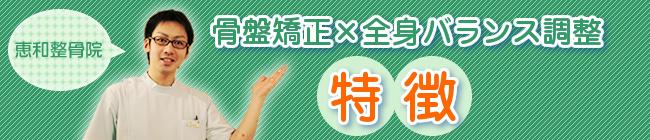 骨盤矯正×全身バランス調整の特徴