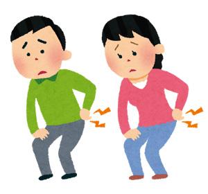 腰痛治療の様子